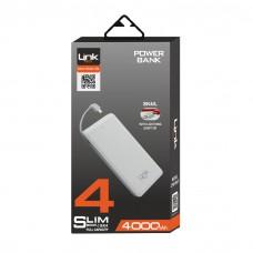 Slim SK4  4000mAh Dahili Kablolu Micro USB Powerbank