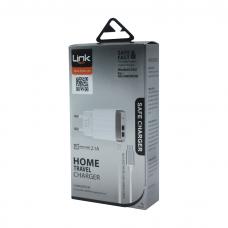 C502 Safe Dahili Micro USB Kablo&Çift Çıkışlı Led Akıllı Şarj