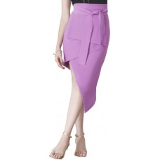 Lavish Alice Asymmetric Midi Skirt for Women - Purple