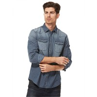 Calvin Klein Blue Shirt Neck Shirts For Men