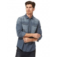 Calvin Klein Blue Shirt Neck Shirts For Men