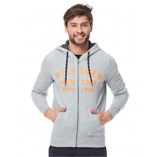 Tommy Hilfiger Zip Up Hoodie For Men - Grey