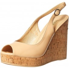 Baldi London Wideopen Wedges for Women, Beige
