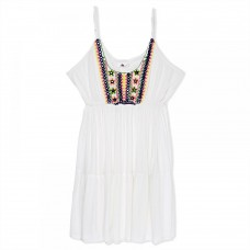 South Beach Beach Dress for Women - White
