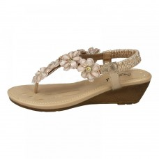 Kidderminster Savannah Wedges for Women - Rose Gold