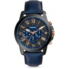Fossil Grant Watch for Men - Analog Leather Band